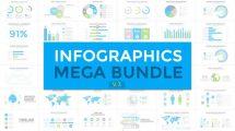 پروژه افترافکت مجموعه اینفوگرافیک Infographics Mega Bundle