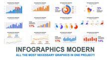 پروژه افترافکت مجموعه اینفوگرافیک مدرن Infographics Modern