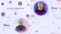 پروژه افترافکت تیزر تبلیغاتی دوره آموزشی Instagram Masterclass Event Promo