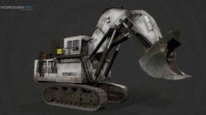 مدل سه بعدی بیل مکانیکی LIEBHERR R996 Excavator