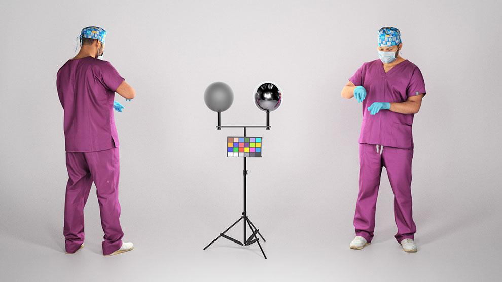 مدل سه بعدی دکتر مرد در حال جراحی Male Surgical Doctor Working