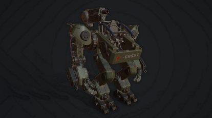 مدل سه بعدی ربات نظامی Military Exoskeleton