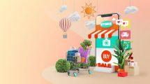 پروژه افترافکت تیزر تبلیغاتی فروشگاه آنلاین Mobile Online Shopping