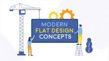 پروژه افترافکت مجموعه کانسپت فلت Modern Flat Design