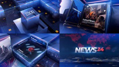پروژه افترافکت افتتاحیه خبری News Opener