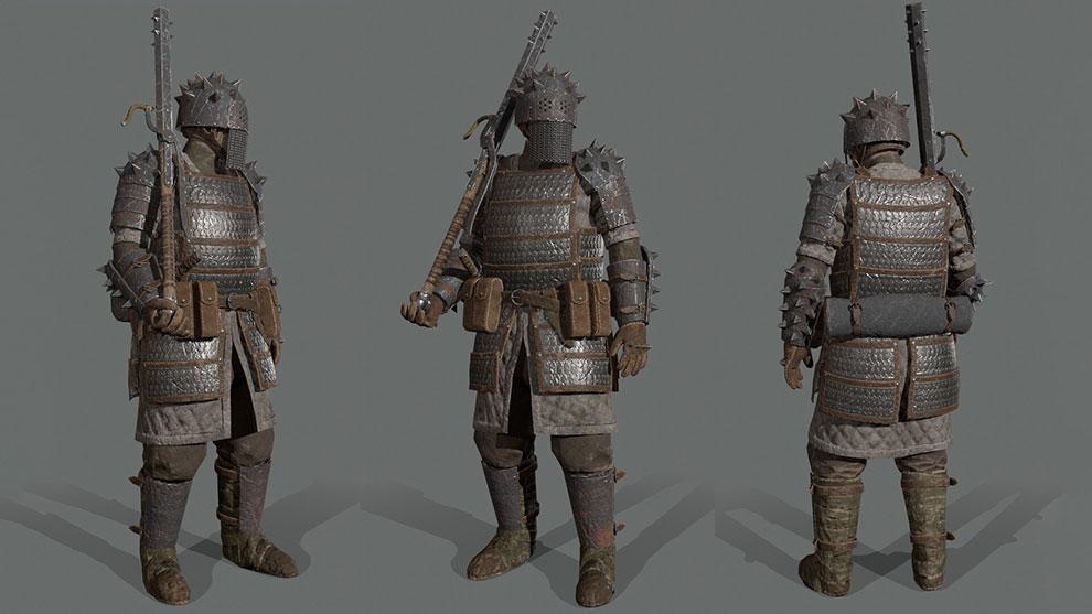 مدل سه بعدی کاراکتر جنگجو Northern Medium Armor