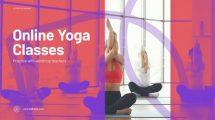 پروژه افترافکت تیزر تبلیغاتی یوگا آنلاین Online Yoga Promo