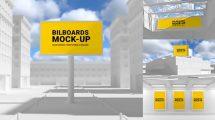 پروژه افترافکت موکاپ فضاهای بیرونی Outdoor Mockups