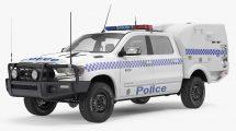 مدل سه بعدی ماشین پلیس Paddy Wagon Dodge RAM 1500