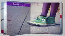 پروژه افترافکت اسلایدشو با افکت فلیپ صفحه Page Flip Slideshow