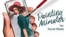 پروژه افترافکت انیماتور نقاشی Painting Animator for Social Media