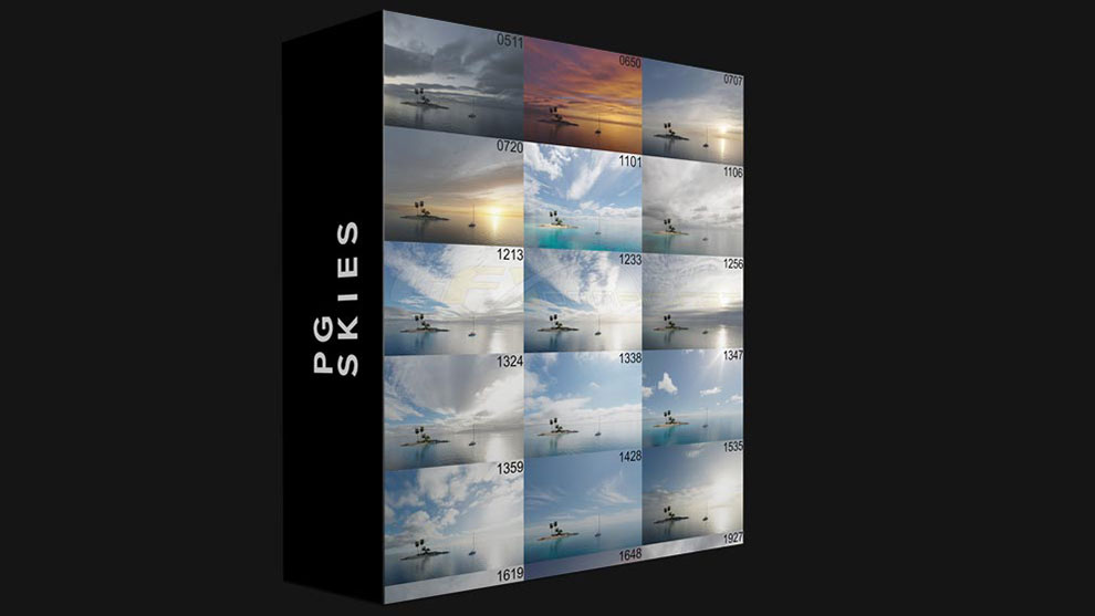 مجموعه تصاویر محیط آسمان PG Skies HDRI