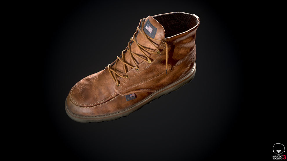 مدل سه بعدی کفش Red Wing Style Boots