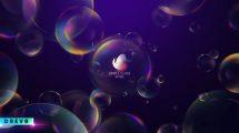پروژه افترافکت تیزر نمایش لوگو در حباب Simple Glass Intro