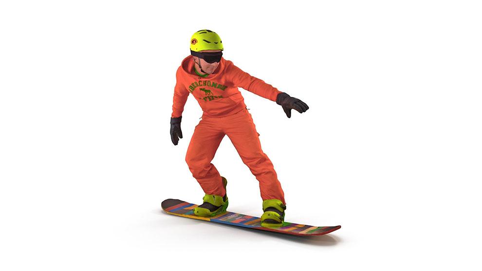 مدل سه بعدی اسنوبوردر Snowboarder یک مدل 3D با جزییات بالا برای استفاده در انواع طراحی سه بعدی ورزشی و اسکی است.