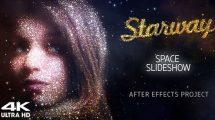 پروژه افترافکت اسلایدشو کیهانی Starway Space Slideshow