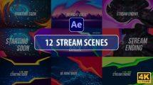 پروژه افترافکت اینترو برای استریم Stream Scenes
