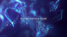 پروژه افترافکت نمایش عناوین پارتیکلی Stylish Particle Titles