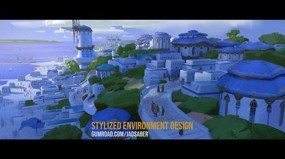دوره آموزشی طراحی محیط سه بعدی در بلندر Stylized Environment Design