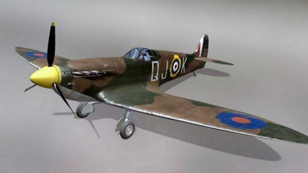 مدل سه بعدی هواپیما جنگی Supermarine Spitfire MK2A