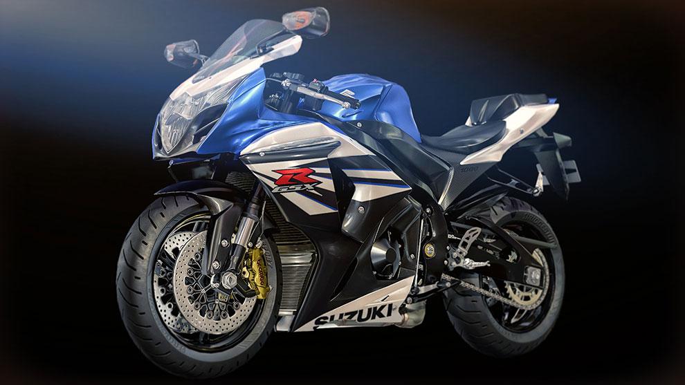 مدل سه بعدی موتور سوزوکی Suzuki 550 GSX R1000