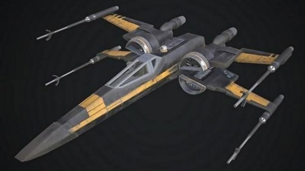 مدل سه بعدی سفینه فضایی T-65 X-Wing
