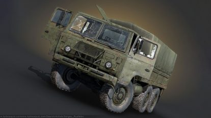 مدل سه بعدی کامیون نظامی TGB 40 SAAB Scania Military Truck