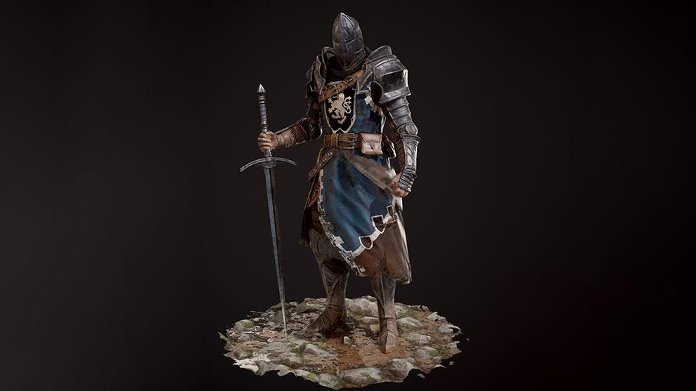 مدل سه بعدی شوالیه The Knight