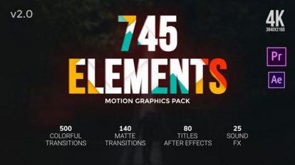 پروژه پریمیر مجموعه ترانزیشن Transitions Pack