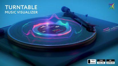 پروژه افترافکت ویژوالایزر موزیک Turntable Music Visualizer
