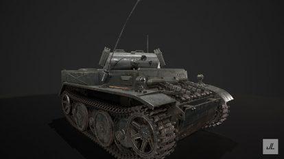 مدل سه بعدی تانک جنگ جهانی WW2 Tank 2