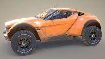 مدل سه بعدی خودرو ویژه زمین شنی Zarooq Sand Racer