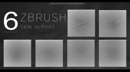 مجموعه تکسچر پوست دست Hand Skin Alphas Pack