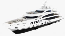 مدل سه بعدی کشتی تفریحی Amels 200 Yacht