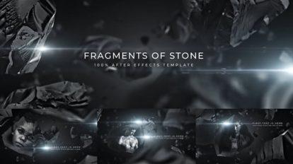 پروژه افترافکت عناوین با سنگ های فضایی Asteroid