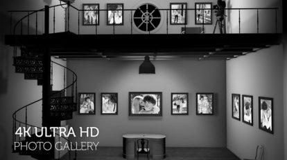 پروژه افترافکت گالری عکس Black and White Photo Gallery