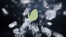 پروژه افترافکت نمایش لوگو با تکه های الماس Brilliant Logo