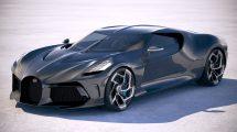 مدل سه بعدی خودرو بوگاتی Bugatti La Voiture Noire