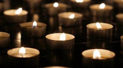 فوتیج کلوزاپ شمع های روشن Candle