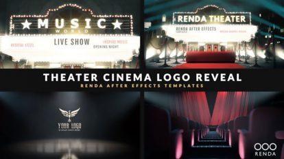 پروژه افترافکت نمایش لوگو در سینما Cinema Intro Curtain Logo Reveal
