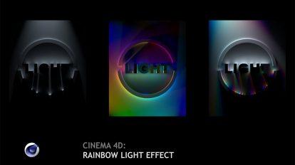 آموزش ساخت افکت نور رنگین کمانی در سینمافوردی