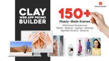 پروژه افترافکت ساخت تیزر تبلیغاتی اپلیکیشن Clay Web App Promo Builder