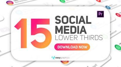 پروژه پریمیر مجموعه زیرنویس شبکه اجتماعی Social Media Lower Thirds