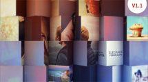 پروژه افترافکت اسلایدشو با مکعب های چرخان Multi Photo Slideshow