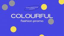 پروژه افترافکت تیزر تبلیغاتی فشن Colorful Fashion Promo