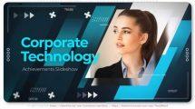 پروژه افترافکت اسلایدشو شرکتی Corporate Technology Achievements