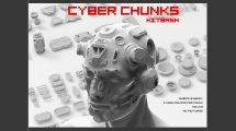 مجموعه مدل سه بعدی اجزای سایبرنتیک Cyber Chunks Kitbash Bundle