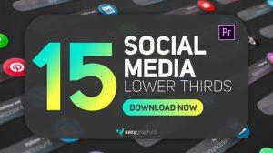 پروژه پریمیر زیرنویس شبکه اجتماعی Social Media Lower Thirds