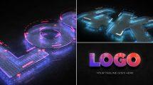 پروژه افترافکت تیزر نمایش لوگو دیجیتال Digital 3D Logo Reveal