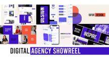 پروژه افترافکت شوریل آژانس تبلیغاتی دیجیتال Digital Agency Web Showreel